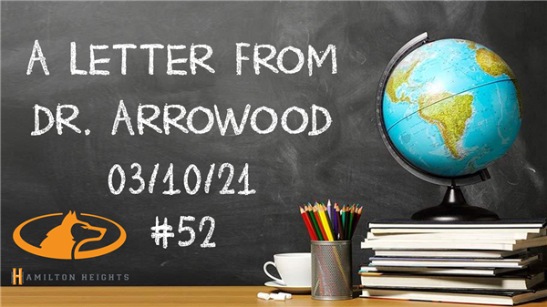 A LETTER FROM DR. ARROWOOD 03/10/21