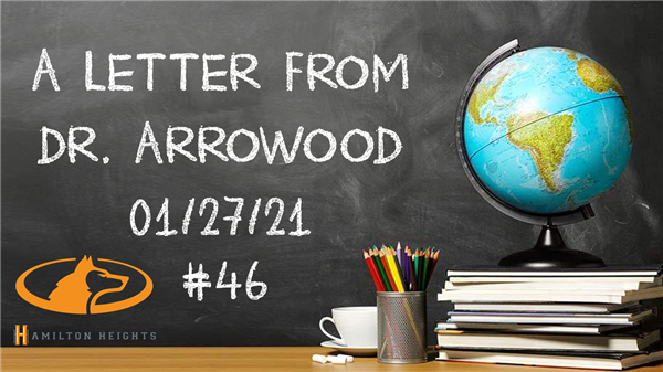 A LETTER FROM DR. ARROWOOD 01/27/21