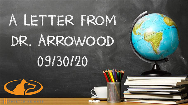 A LETTER FROM DR. ARROWOOD 09/30/20