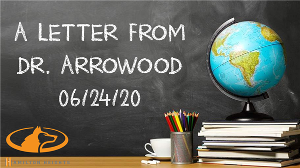 A LETTER FROM DR. ARROWOOD 05/20/20