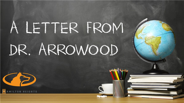 04/01/20 A LETTER FROM DR. ARROWOOD